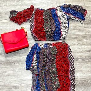 Two-Piece Top and Skirt Set